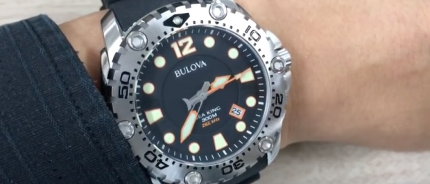 Bulova is just one of the brands on sale (YouTube screenshot)