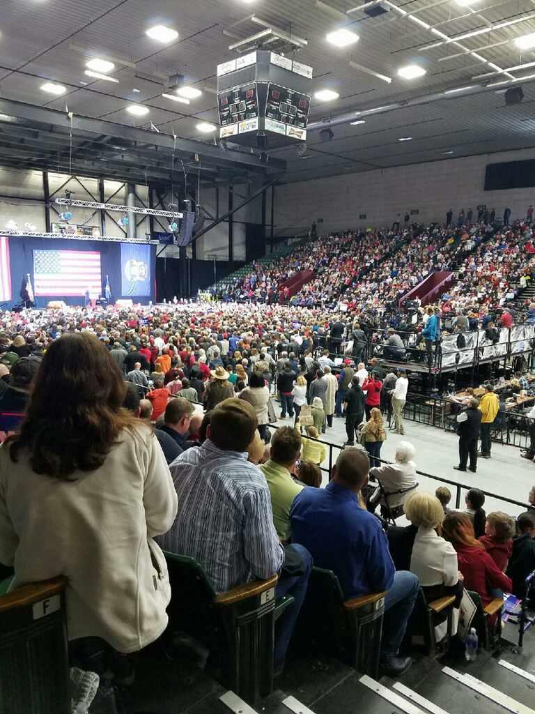 Donald Trump in Grand Rapids, Mich. (Veronica Perez)