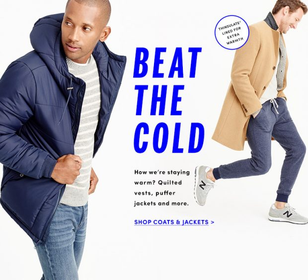 Get ready for colder weather at half the price (Photo via J.Crew Factory)