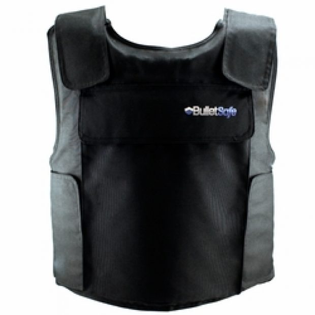 These vests will stop all handgun rounds up to .44 magnum and are available for a very reasonable price (Photo via BulletSafe.com)