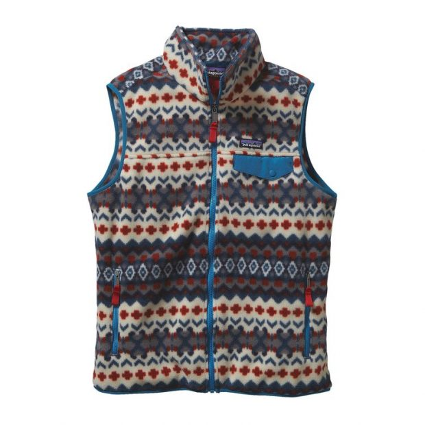 Normally $99, this fleece vest is on sale for $49. It comes in four patterns (Photo via Patagonia)