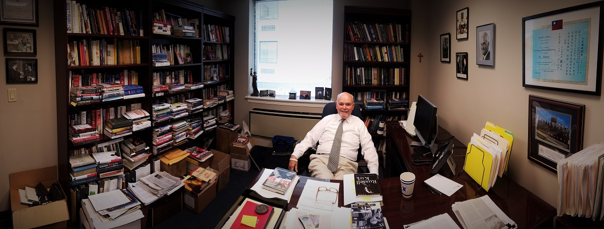 Lee Edwards in his office at Heritage. Christopher Bedford.