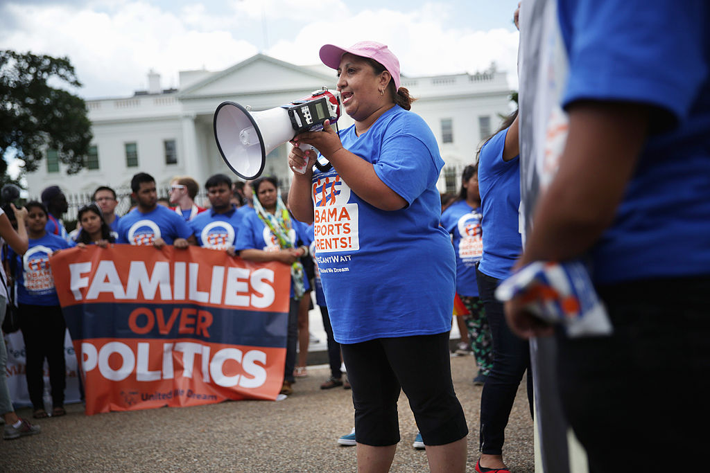 DREAMERs hold a rally outside the White House in Washington, DC (Getty Images)