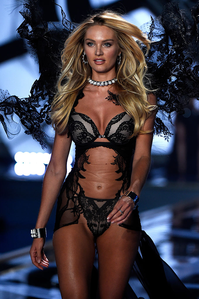 Candice Swanepoel hits the runway at the annual Victoria's Secret fashion show in London. (Photo by Pascal Le Segretain/Getty Images)