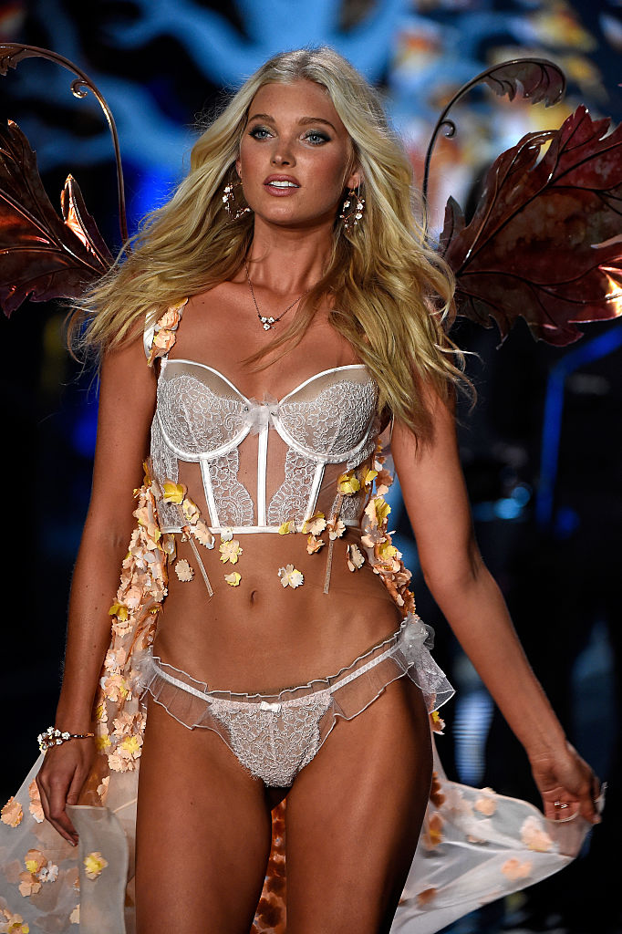 Elsa Hosk walks the runway at the annual Victoria's Secret fashion show at Earls Court on December 2, 2014 in London, England. (Photo by Pascal Le Segretain/Getty Images)