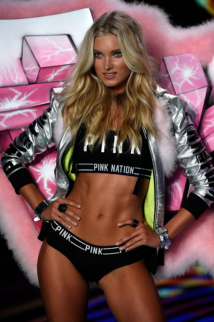 Model Elsa Hosk walks the runway at the Victoria's Secret fashion show in London. (Photo by Pascal Le Segretain/Getty Images)