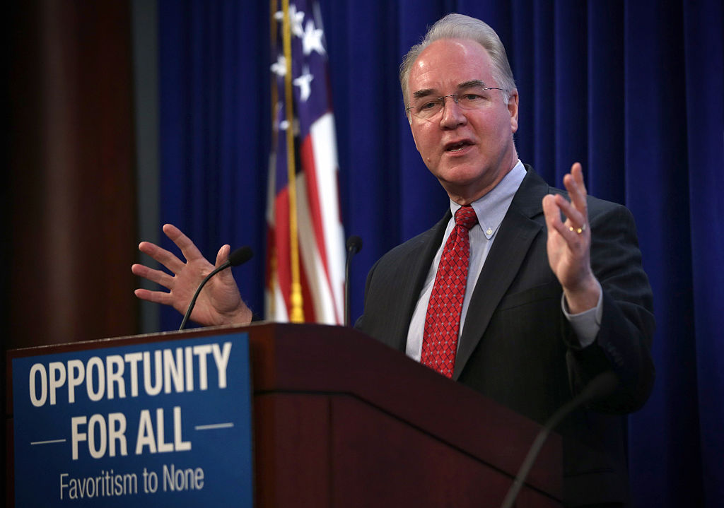 Tom Price addresses the second annual Conservative Policy Summit at the Heritage Foundation on January 12, 2015 (Getty Images)