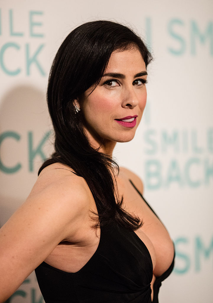 Actress Sarah Silverman arrives at the premiere of Broad Green Pictures' 'I Smile Back' at ArcLight Cinemas on October 21, 2015 in Hollywood, California. (Photo by Mark Davis/Getty Images)