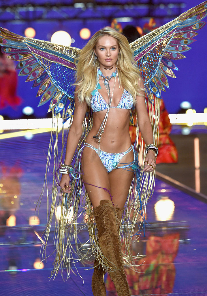 Model and Victoria's Secret Angel Candice Swanepoel from South Africa walks the runway during the 2015 Victoria's Secret Fashion Show at Lexington Avenue Armory on November 10, 2015 in New York City. (Photo by Dimitrios Kambouris/Getty Images for Victoria's Secret)