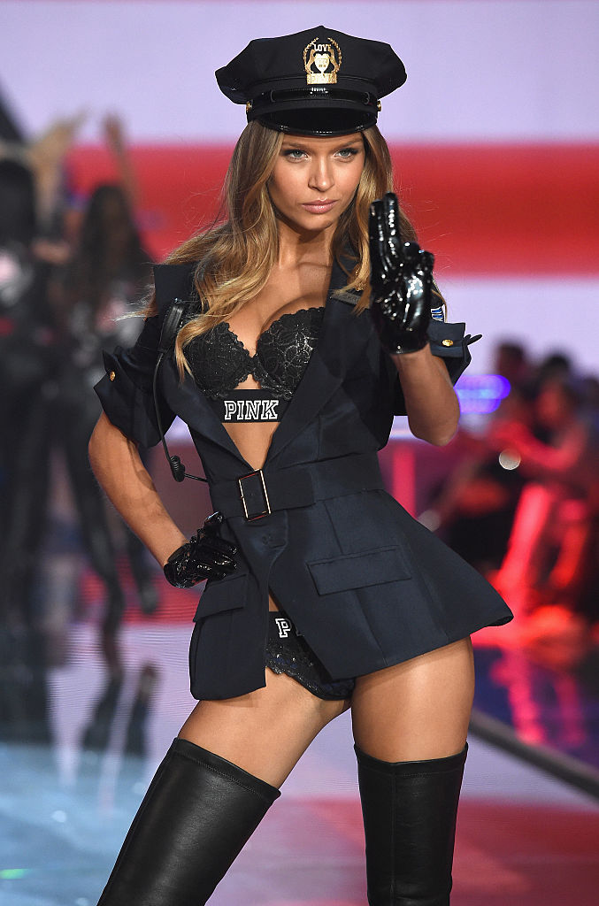 Model Josephine Skriver from Denmark walks the runway during the 2015 Victoria's Secret Fashion Show. (Photo by Dimitrios Kambouris/Getty Images for Victoria's Secret)