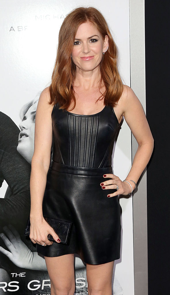 "Actress Isla Fisher attends the premiere of ""The Brothers Grimsby"" at the Regency Village Theatre in Westwood, California. (Photo by Frederick M. Brown/Getty Images)"