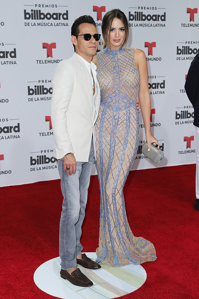 Marc Anthony and Shannon de Lima attend the Billboard Latin Music Awards. (Photo by Alexander Tamargo/Getty Images)