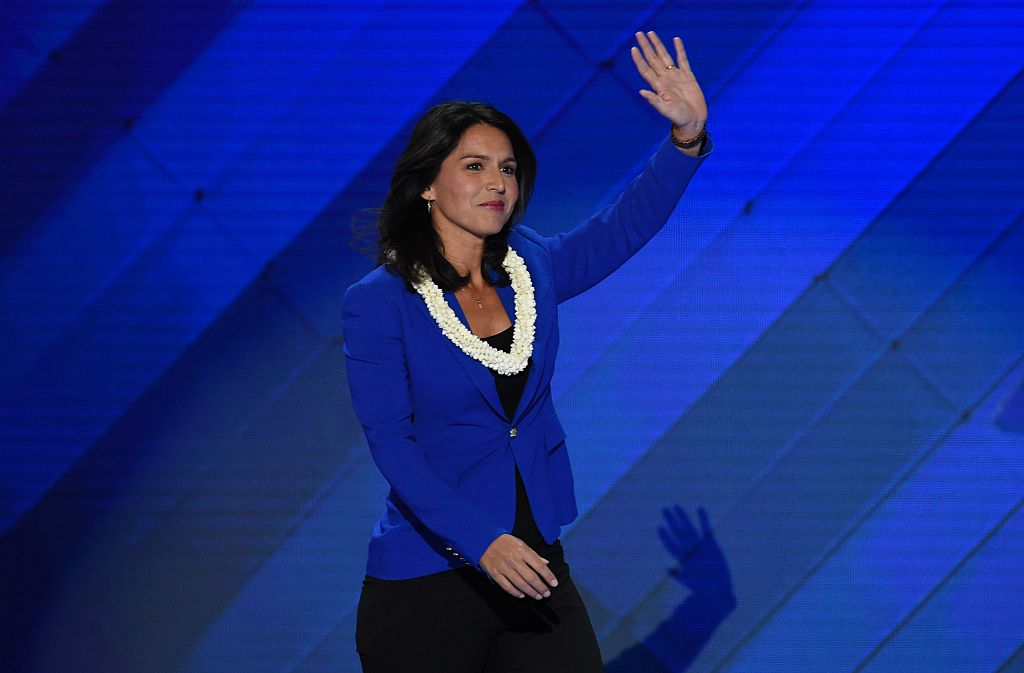 Tulsi Gabbard speaks during Day 2 of the 2016 Democratic National Convention (Getty Images)