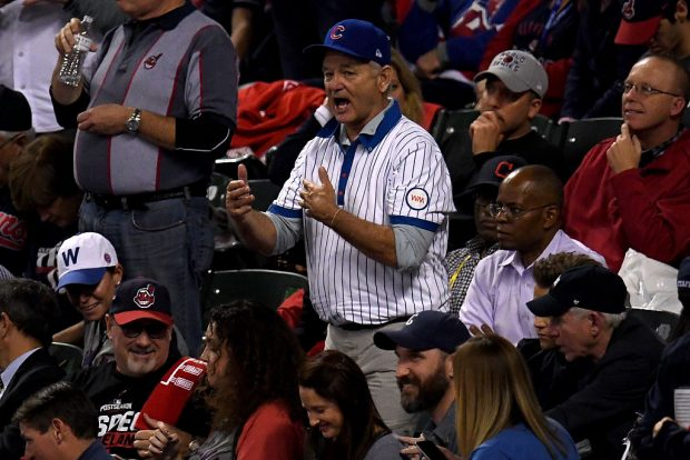 Actor Bill Murray attends Game Six of the 2016 World Series. (Photo by Jason Miller/Getty Images)