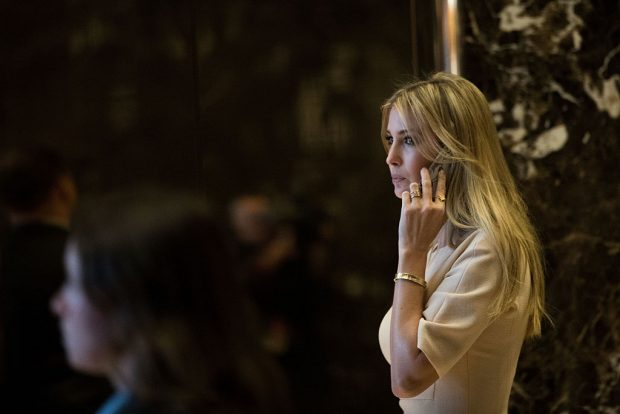Ivanka Trump walks through the lobby of Trump Tower, November 11, 2016 in New York City. (Photo by Drew Angerer/Getty Images)
