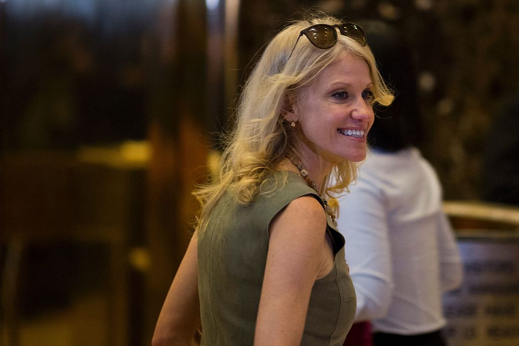Kellyanne Conway arrives at Trump Tower in New York City on November 18, 2016 (Getty Images)