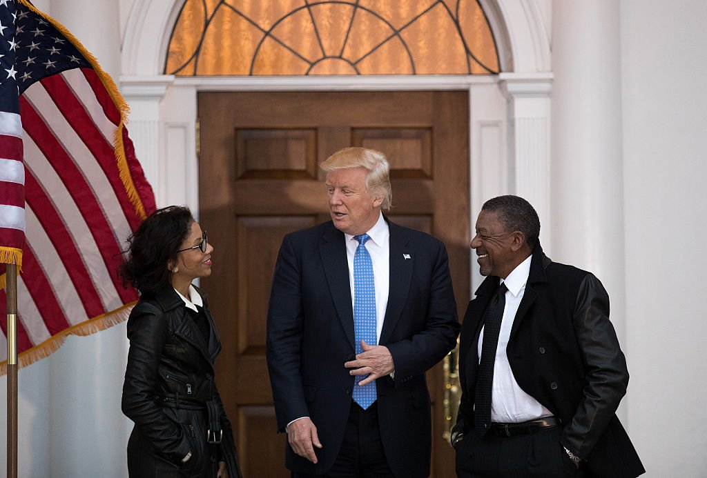Donald Trump meets with Robert Johnson in Bedminster, New Jersey (Getty Images)