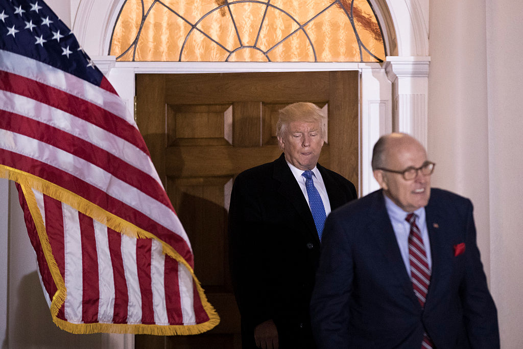 Donald Trump meets with Rudy Giuliani at Trump National (Getty Images)