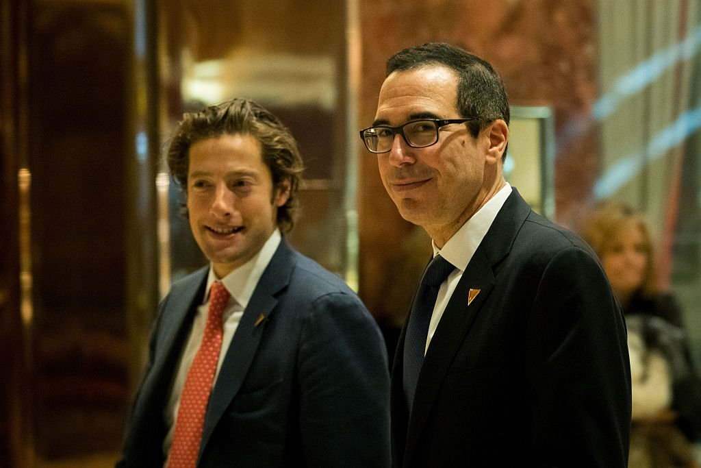 Steve Mnuchin speaks to reporters at Trump Tower in New York City (Getty Images)