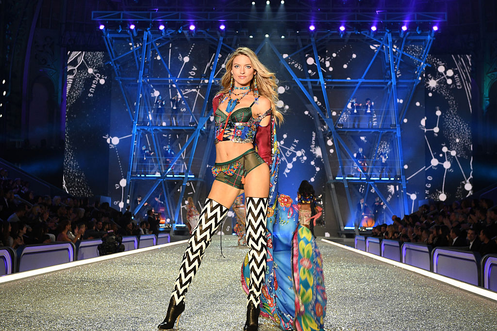 Martha Hunt put on a show of her own. (Photo by Dimitrios Kambouris/Getty Images for Victoria's Secret)