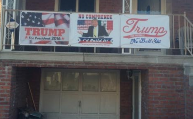 South Bronx Trump Banner (Photo: Andy Lombardo)