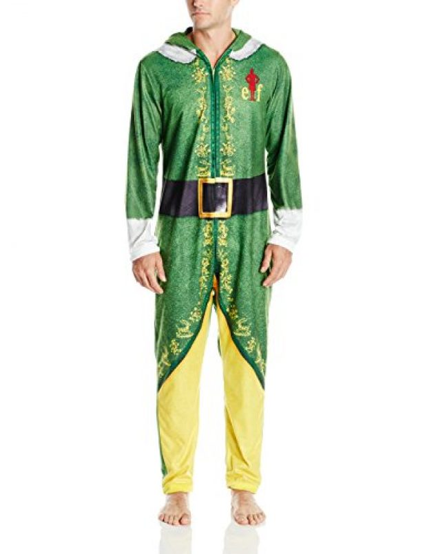 Normally $80, this pair of PJs from the movie 'Elf' is 70 percent off today (Photo via Amazon)