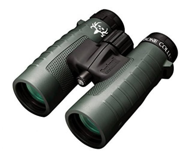 This bundle includes the Trophy XLT Roof Prism Binoculars, 10x42mm (Bone Collector Edition) + Deluxe Binocular Harness (Photo via Amazon)