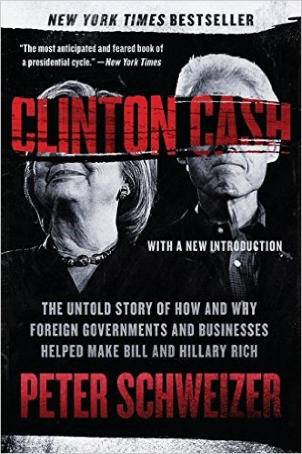 "The book ""Clinton Cash"" was the initial catalyst for the FBI's investigation into Hillary Clinton (Photo via Amazon)"