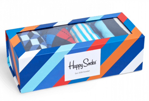 You can save $18 on boxes of socks (Photo via HappySocks)