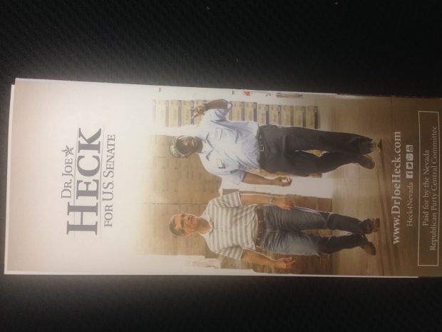Photo of Heck flier (courtesy of GOP source)