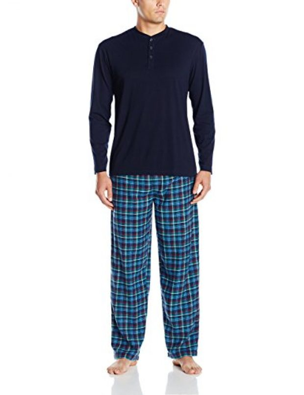 Normally $60, this pant and henley set is 60 percent off today (Photo via Amazon)