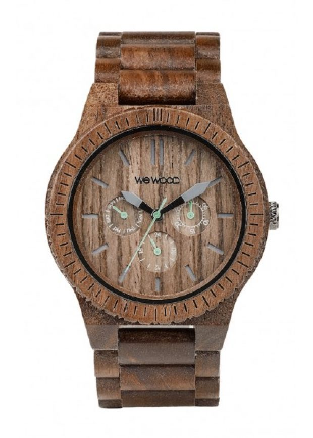 The Kappa is WeWOOD's flagship timepiece. It is available in 11 colors. This is the nut (Photo via WeWOOD)