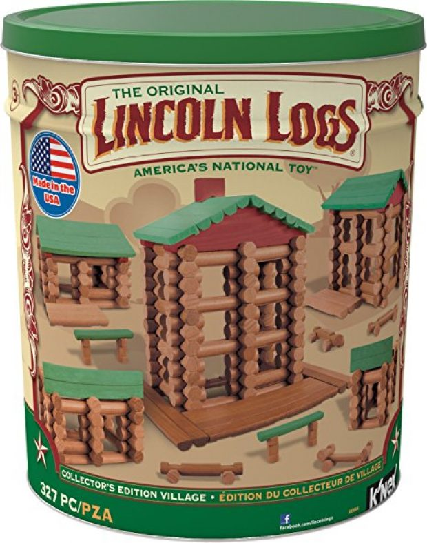 This Lincoln Log set is $55 off today (Photo via Amazon)