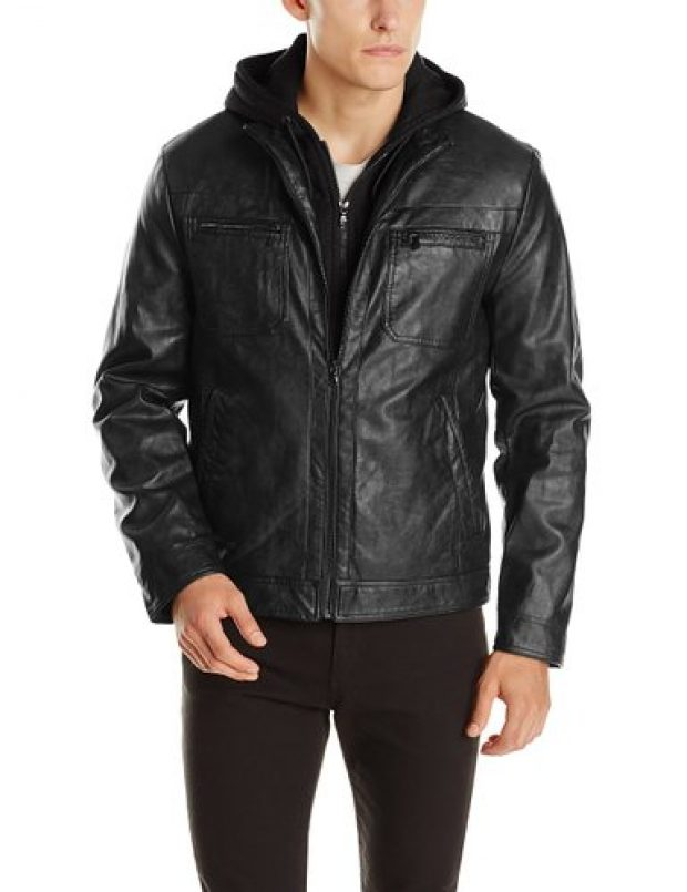 Normally $195, this faux-leather jacket is 61 percent off (Photo via Amazon)