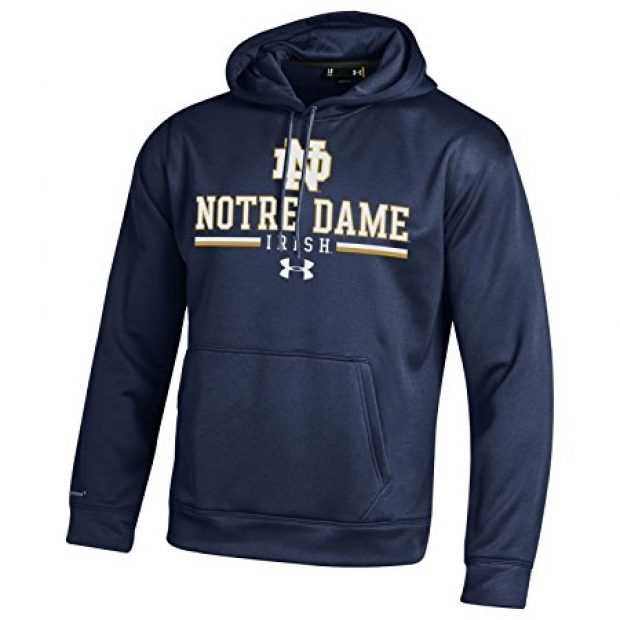 Notre Dame is one of over 40 schools you can get an Under Armour fleece repping as part of this deal (Photo via Amazon)