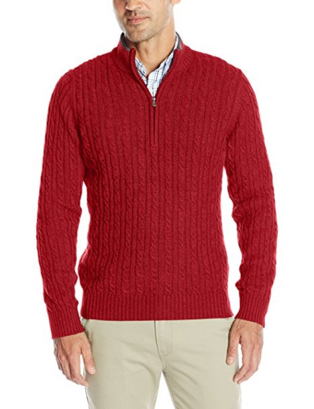 Normally $70, this quarter-zip is $44 off. Also, it comes in 9 different colors (Photo via Amazon)