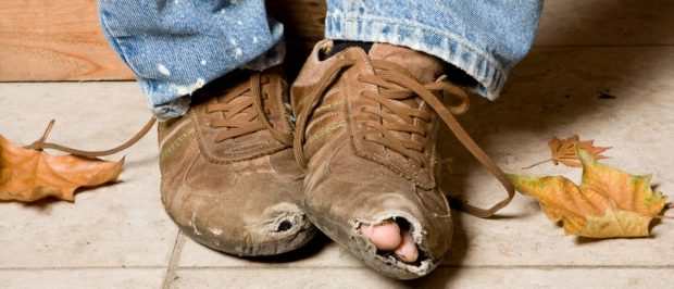 If your shoes look like this, you have a problem (Photo via Shutterstock)