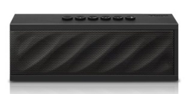 This bluetooth speaker has up to 10 hours of playtime before needing to be recharged (Photo via Amazon)
