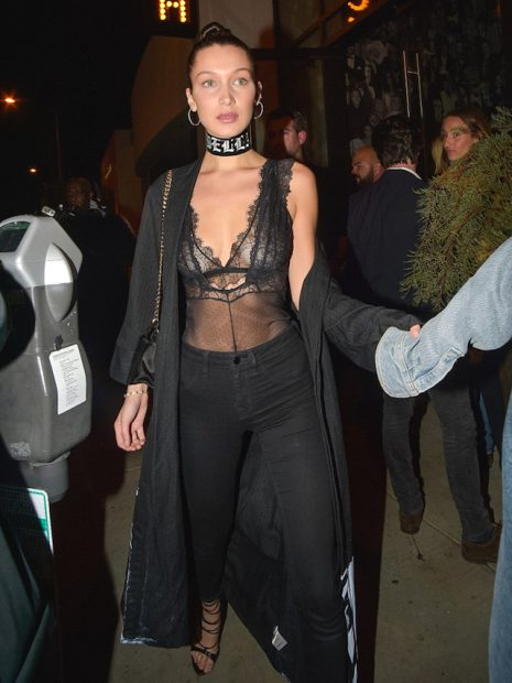 Bella Hadid is seen in Los Angeles, California. <P> Pictured: Bella Hadid <B>Ref: SPL1388211 061116 </B><BR /> Picture by: BG008/Bauergriffin.com<BR /> </P><P>