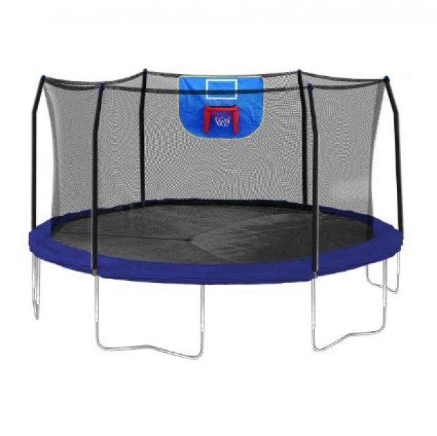 Nearly 600 folks have reviewed this trampoline, and they like it so I suppose I do, too (Photo via Amazon)