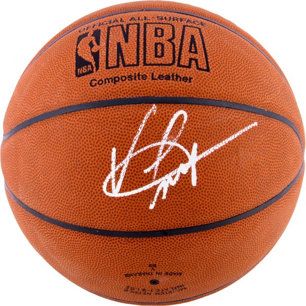 Normally $200, this autographed Vince Carter ball is $150 off for Black Friday (Photo via Sports Memorabilia)
