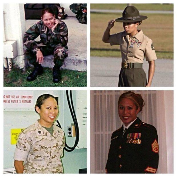 Staff Sergeant Amy Dillon during her time in the U.S. Marine Corps. Courtesy of Amy Dillon