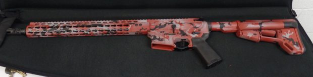 The completed AR-15 which will be raffled for Amy Dillon to help raise funds to rebuild her home. Courtesy of Brian Holcomb