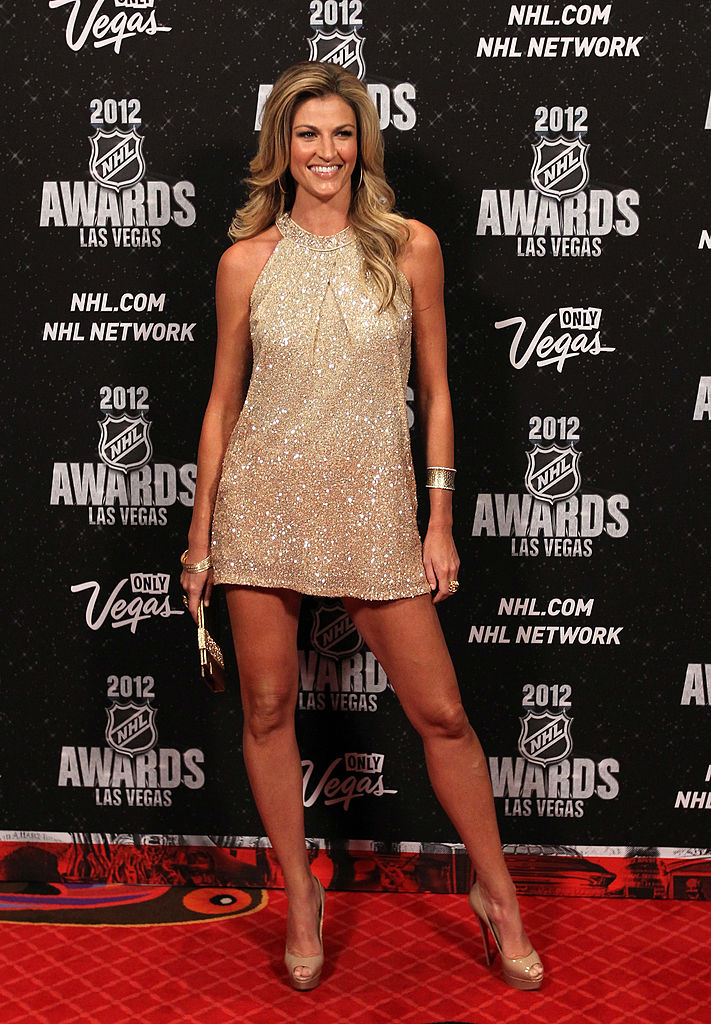 LAS VEGAS, NV - JUNE 20: Sportscaster Erin Andrews arrives before the 2012 NHL Awards at the Encore Theater at the Wynn Las Vegas on June 20, 2012 in Las Vegas, Nevada. (Photo by Bruce Bennett/Getty Images)