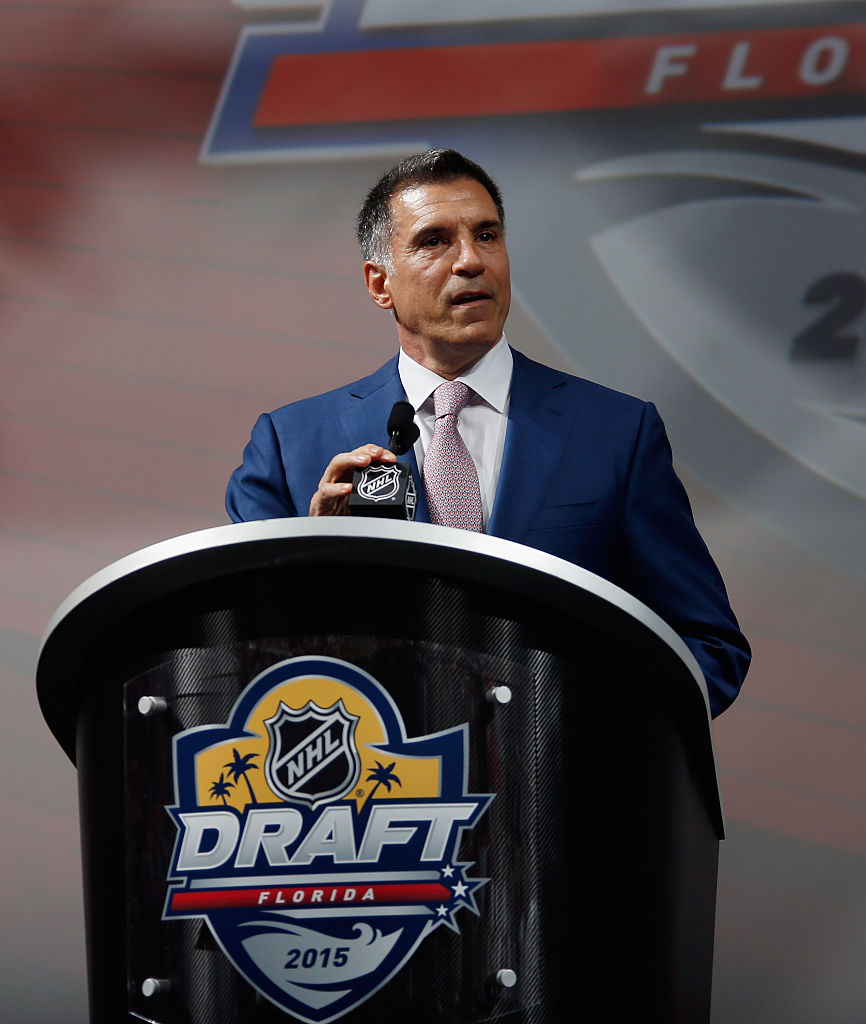 Vincent Viola speaks at the 2015 NHL draft (Getty Images)