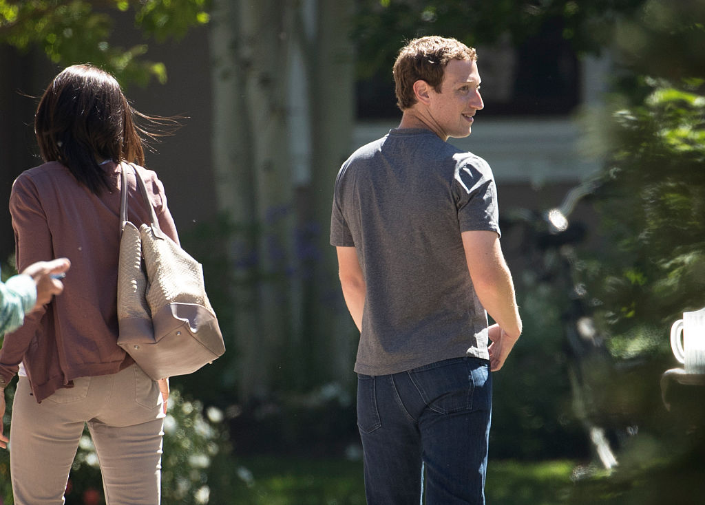 Mark Zuckerberg looks back at it (Getty Images)