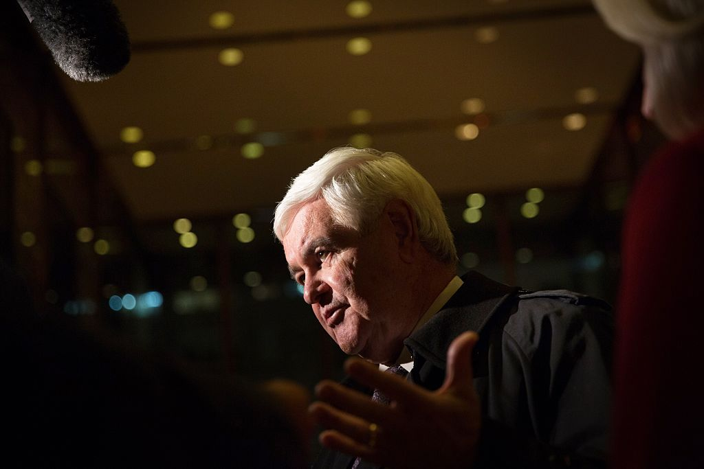 Newt Gingrich speaks to the press after visiting President-elect Donald Trump at Trump Tower on November 21, 2016 (Getty Images)