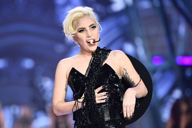 Lady Gaga performs during the 2016 Victoria's Secret Fashion Show at the Grand Palais in Paris on November 30, 2016. (MARTIN BUREAU/AFP/Getty Images)