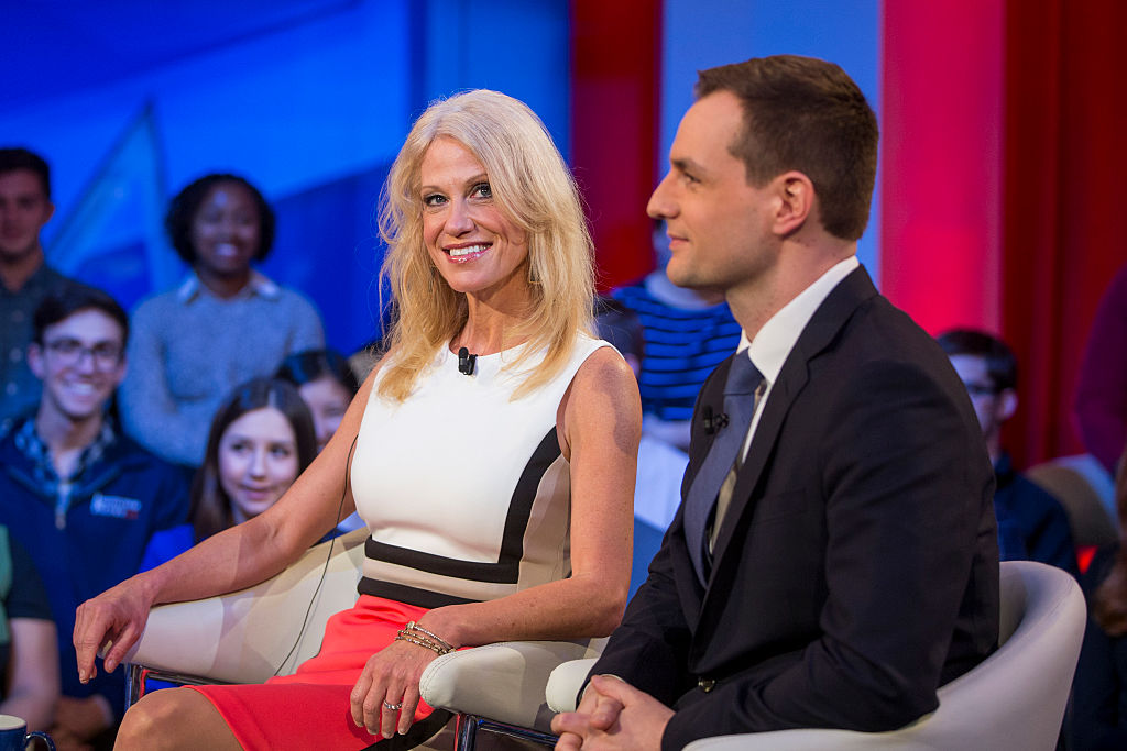 Kellyanne Conway and Robby Mooke (Getty Images)