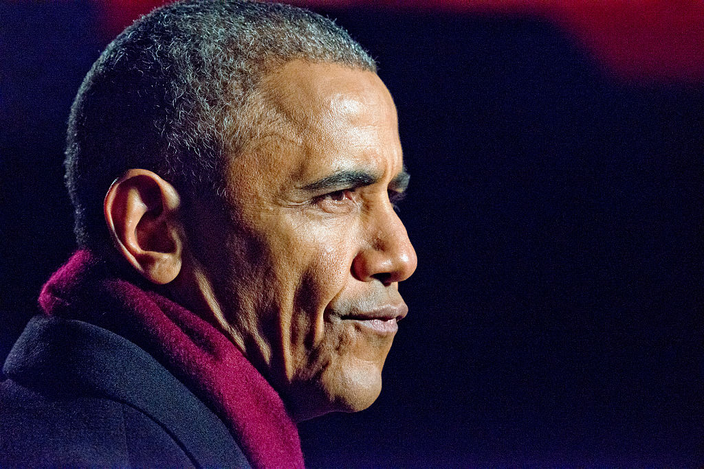 Barack Obama attends the National Christmas Tree Lighting on the Ellipse in Washington, DC on Thursday, December 1, 2016 (Getty Images)